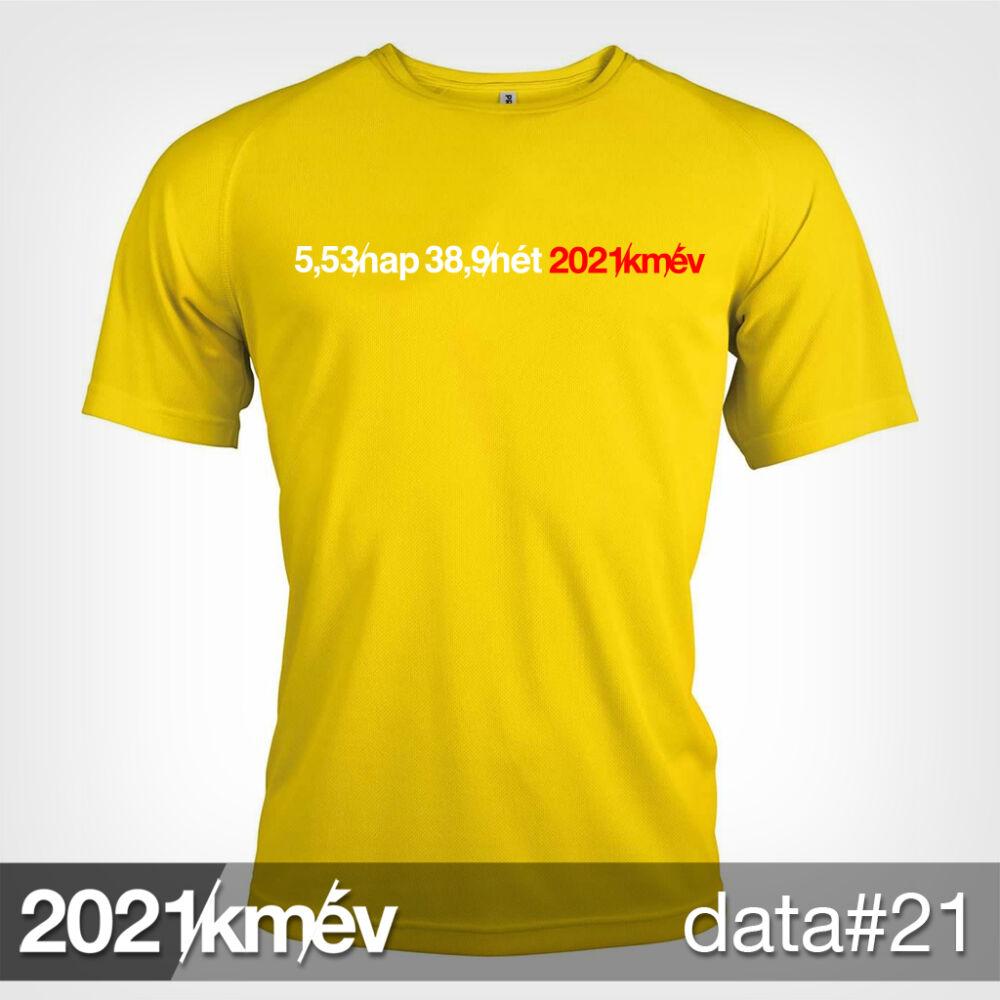 2021 / év / km - DATA 21 póló - FÉRFI