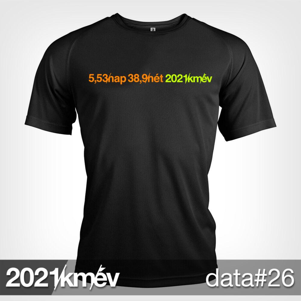 2021 / év / km - DATA 26 póló - FÉRFI