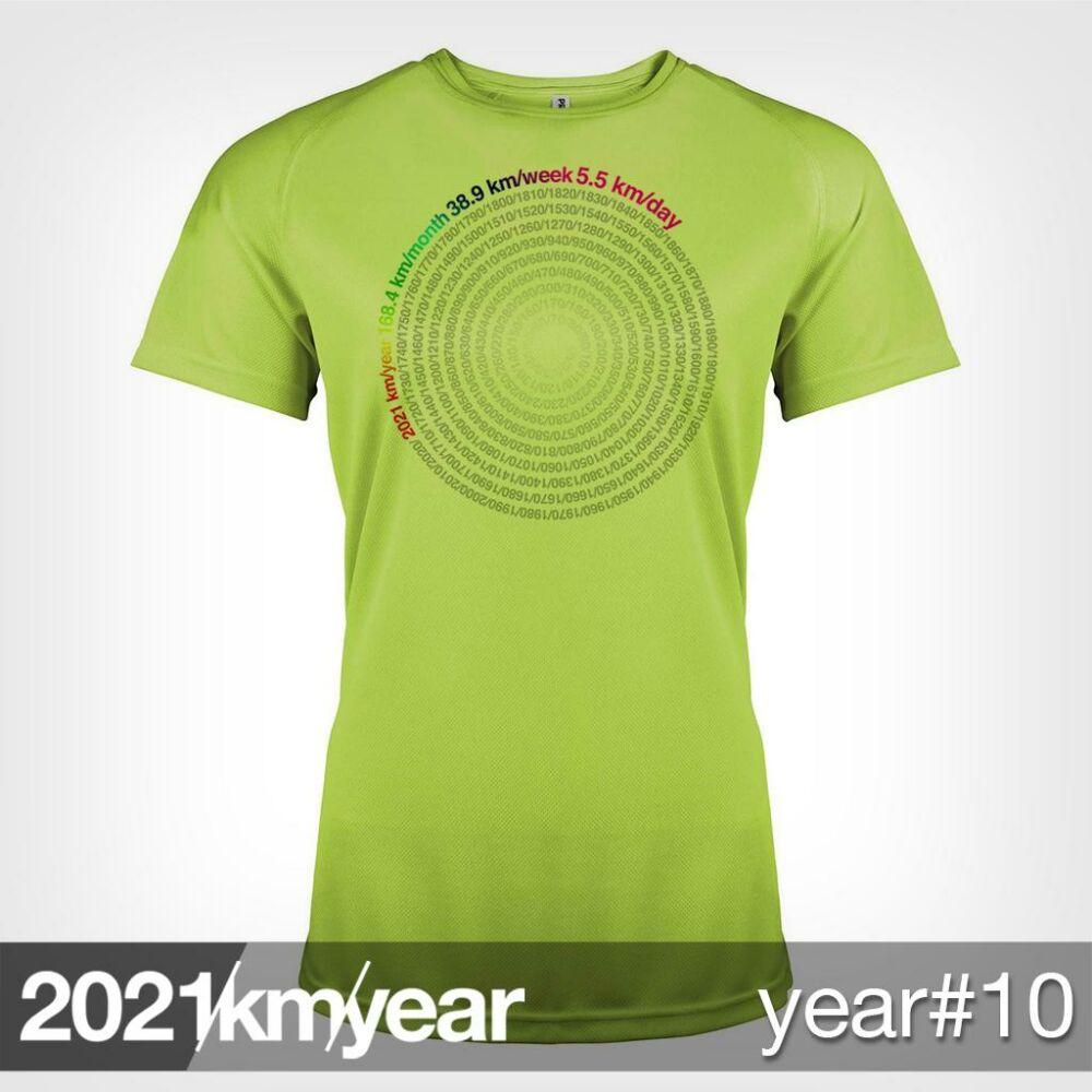 2021 / year / km - YEAR 10 t-shirt - WOMAN