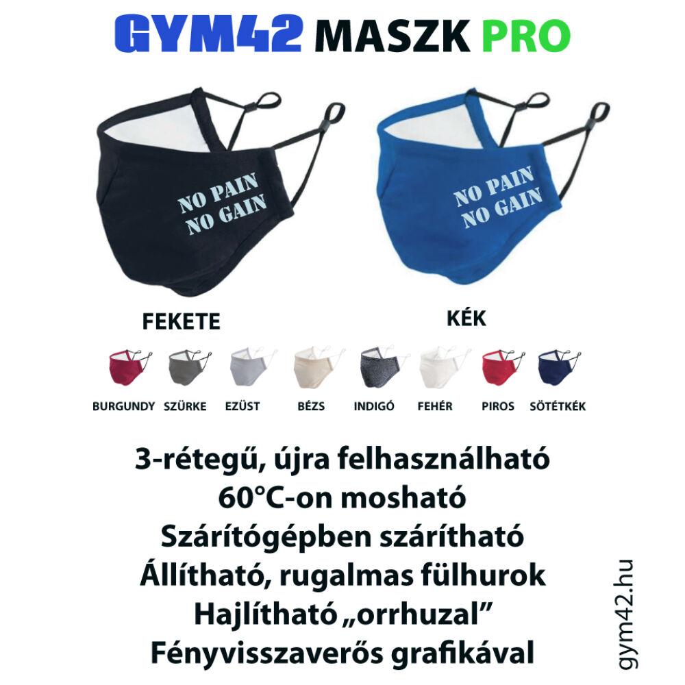 GYM42 MASZK PRO - No Pain No Gain