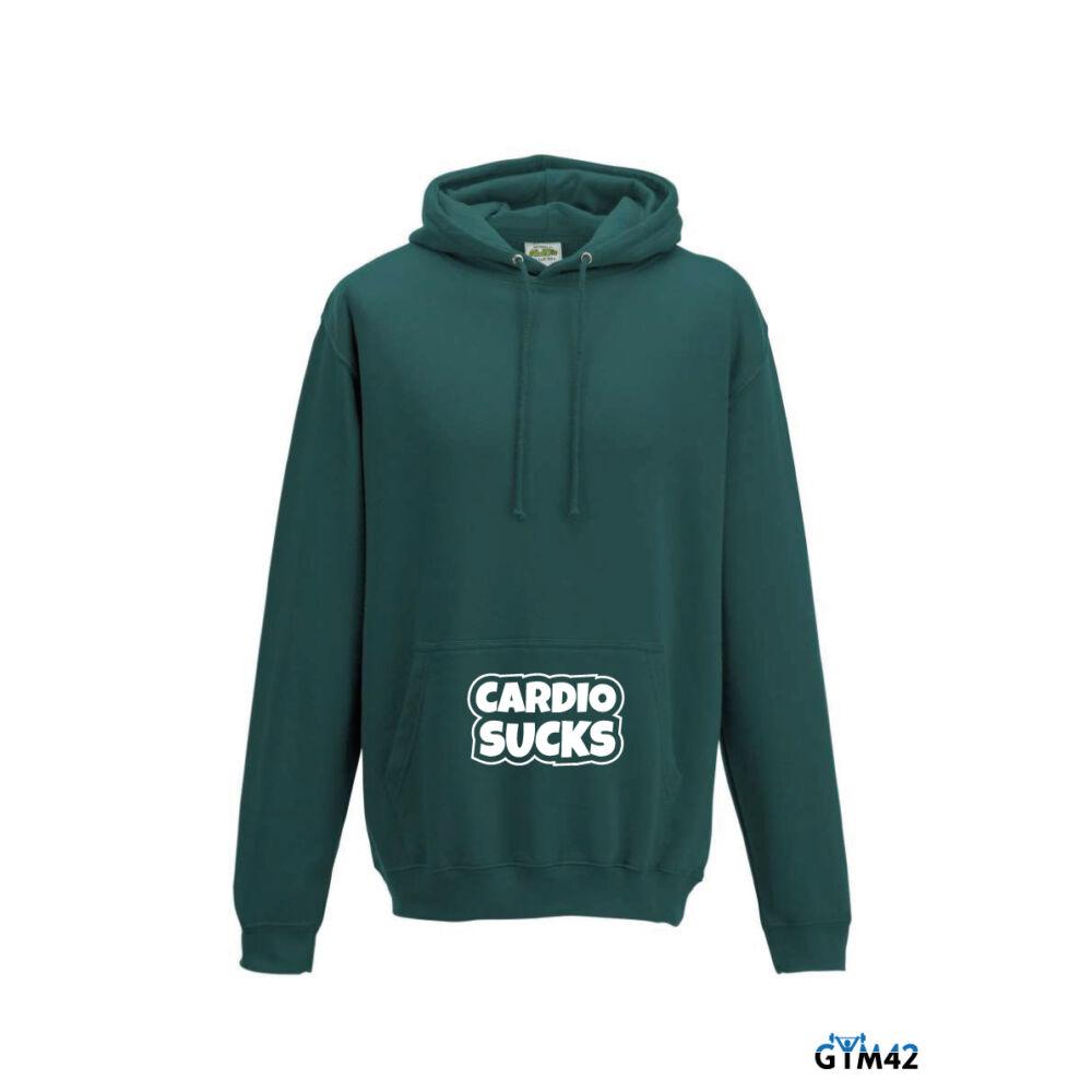 Cardio Sucks férfi kapucnis pulcsi