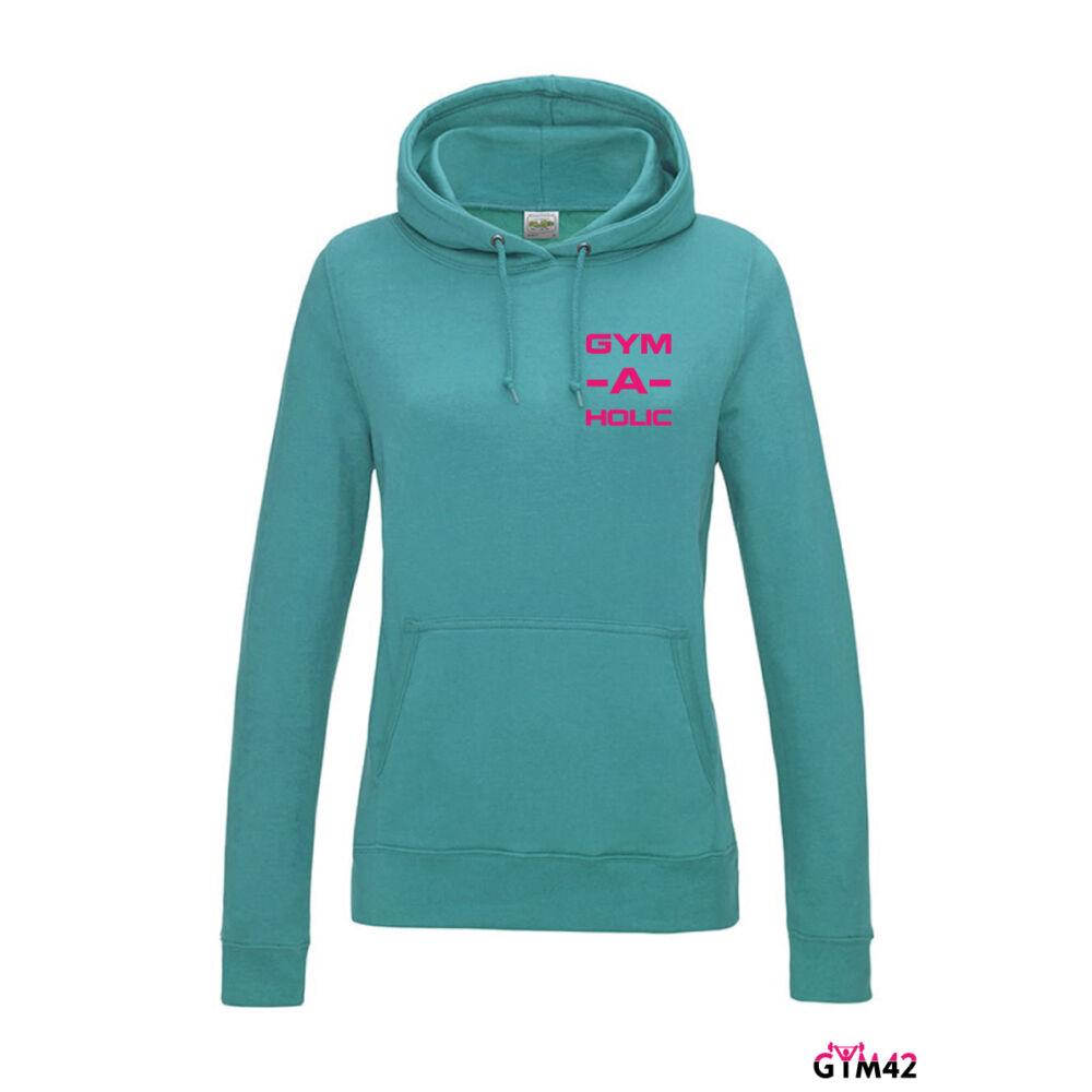 GYM-A-HOLIC női kapucnis pulcsi