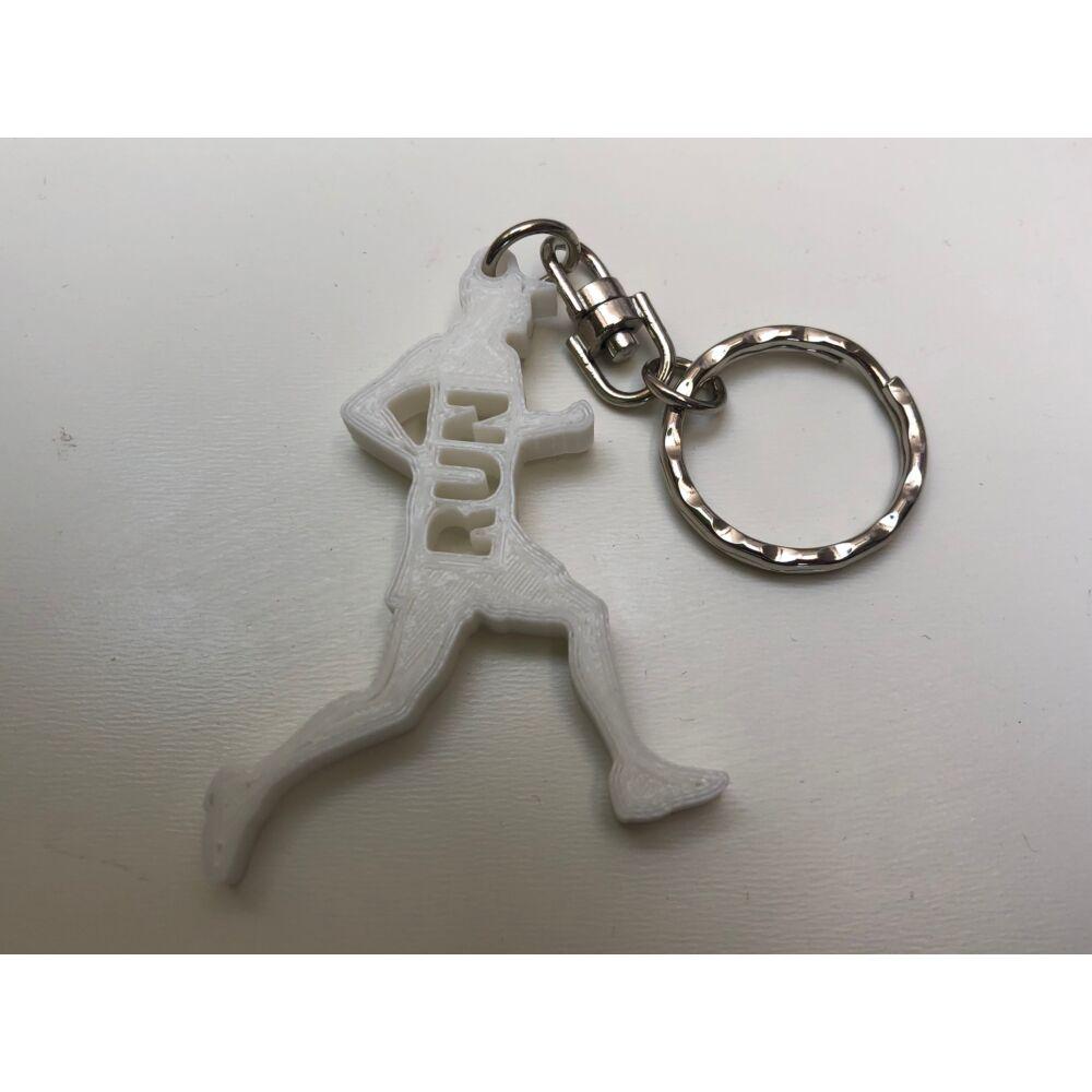 R4F Kulcstartó, férfi futó figura (fehér)