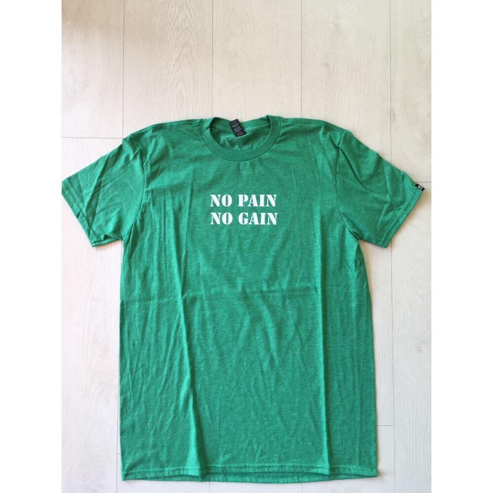 FÉRFI L méret - No pain, No gain rövid ujjú póló