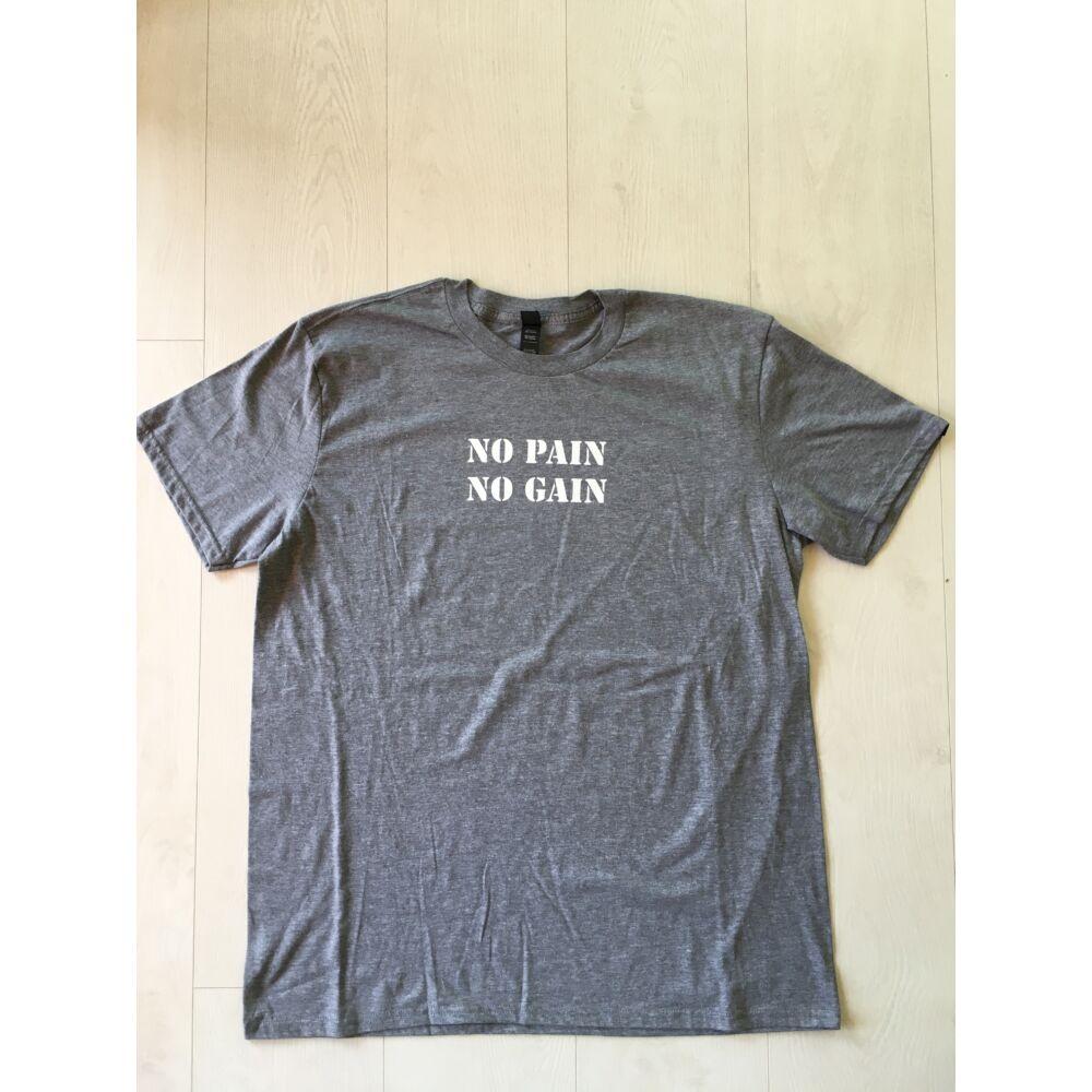 FÉRFI XL méret - No pain, No gain rövid ujjú póló