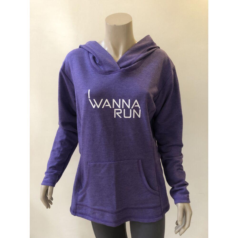 I wanna run lila női kapucnis pulóver - L-es