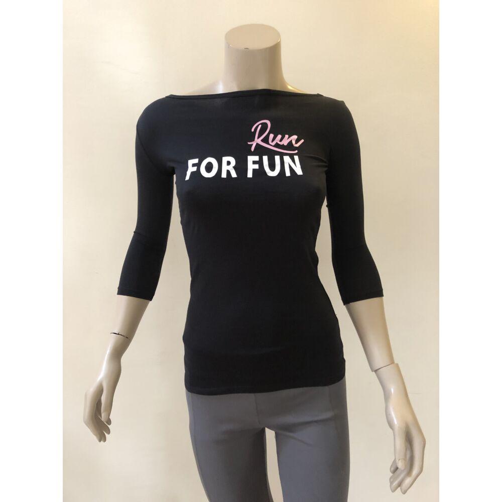 Run for fun fekete 3/4-es ujjú női felső -XS -es