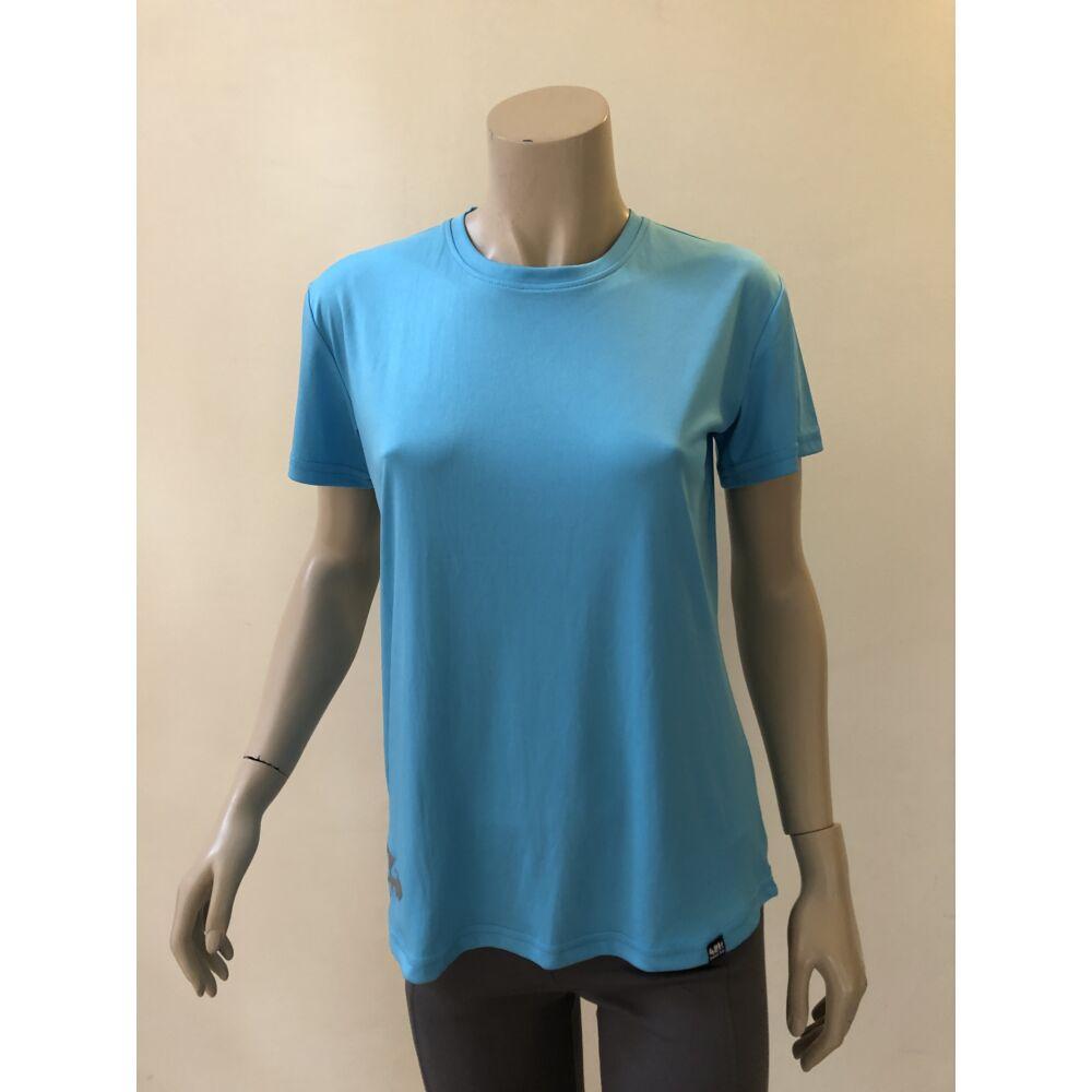 RÖVID UJJÚ világoskék női technikai póló - M-es