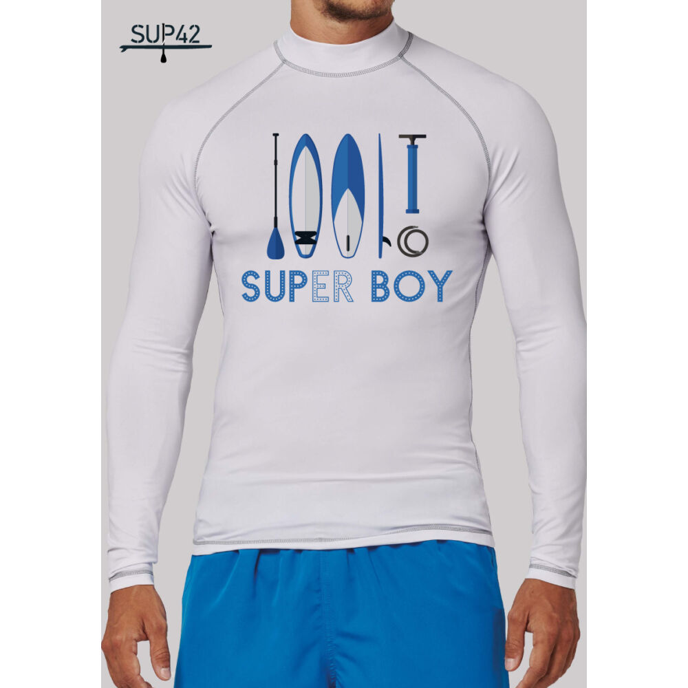 UV-védős hosszú ujjú SUP póló - SUPER BOY