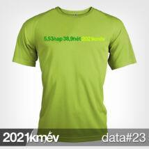 2021 / év / km - DATA 23 póló - FÉRFI