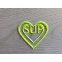UV-sárga szívecskés könyvjelző SUP felirattal