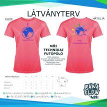 Egyedül futok - UV PINK női póló INGYENES SZÁLLÍTÁSSAL!