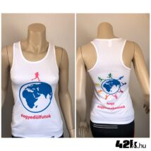 Egyedül futok - FEHÉR női trikó INGYENES SZÁLLÍTÁSSAL!