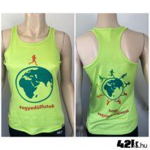 Egyedül futok - LIME ZÖLD női trikó INGYENES SZÁLLÍTÁSSAL!