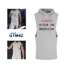 Cardio is for the bedroom - muscle hoodie - szürke