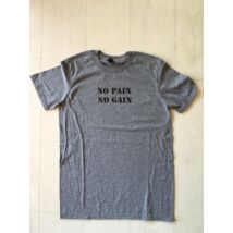 FÉRFI M méret - No pain, No gain rövid ujjú póló