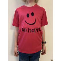 GYEREK - SMILEY pink rövid ujjú technikai póló 10/12 évesekre