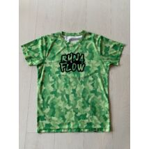 RÖVID UJJÚ zöld/mintás férfi technikai póló - M-es